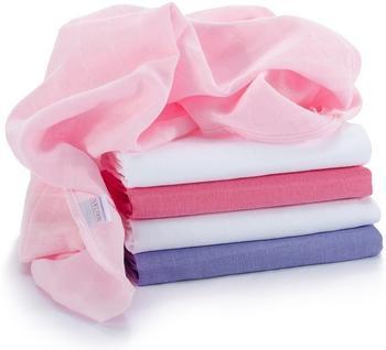 Makian Mullwindeln (70 x 70 cm) 5er Pack Pink Lila