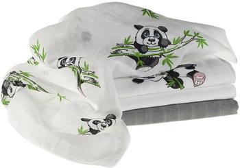 Makian Panda (80 x 80 cm) 4er Pack Weiß Grau