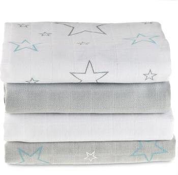 Makian Sterne (70 x 70 cm) 4er Pack Weiß