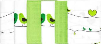 Makian Vogel (80 x 80 cm) 6er Pack Weiß Grün