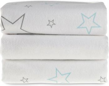 Makian Moltontuch Sterne (80 x 80 cm) 3er Pack Weiß
