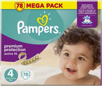 Pampers Active Fit Gr. 4 (7-18 kg) 78 St.