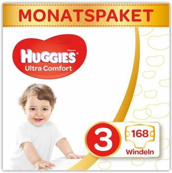 Huggies Ultra Comfort 3 (4-9 kg) 168 pcs