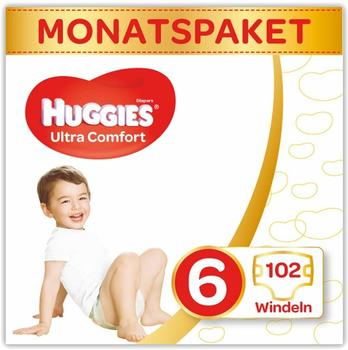 Huggies Ultra Comfort Comfort 6 (15-30 kg) 102 pcs
