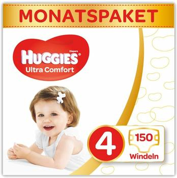 Huggies Ultra Comfort 4 (7-18 kg) 150 pcs