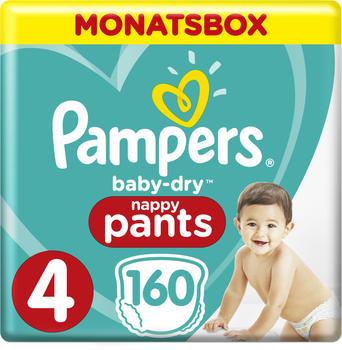 Pampers Baby Dry Pants Gr. 4 (9-15 kg) 160 Stück