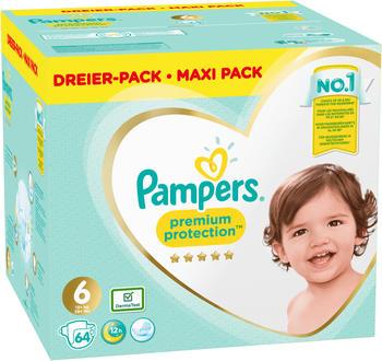 Pampers Premium Protection Größe 6 13 - 18 kg 64 St.