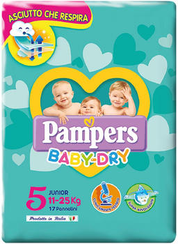 Pampers Baby-Dry Junior Size 5, 11-25 kg, 17 pcs.