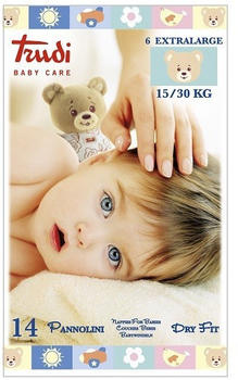 Trudi Baby Care Dry Fit Size 6 XL (15-30Kg) 14 pcs.