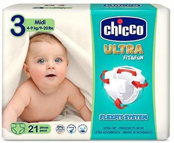 Chicco Ultrasoft Midi S.3 (4-9kg) 21 pcs