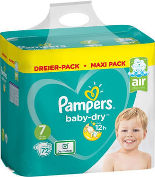 Pampers Baby Dry Gr. 7 (15+ kg) 72 St.