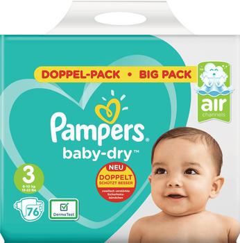 Pampers Baby Dry Größe 3 6-10kg 76St,