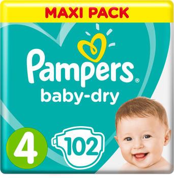 Pampers Baby Dry Größe 4 9-14kg 102St.
