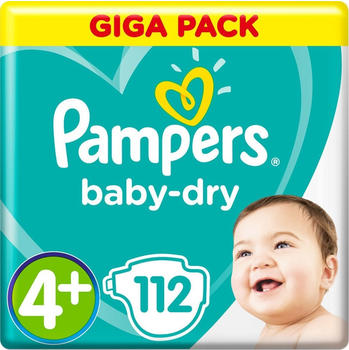 Pampers Baby-Dry 4+ Maxi Plus 10-15 kg Giga Pack 112 St.