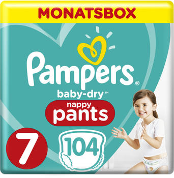 Pampers Baby Dry nappy Pants Gr. 7 Extra Large Plus (17+ kg) 104 St.