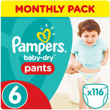 Pampers Baby Dry Pants Gr. 6 (15+ kg) 116 St.