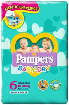 Pampers Baby Dry Gr. 6 (15+ kg) 14 St.