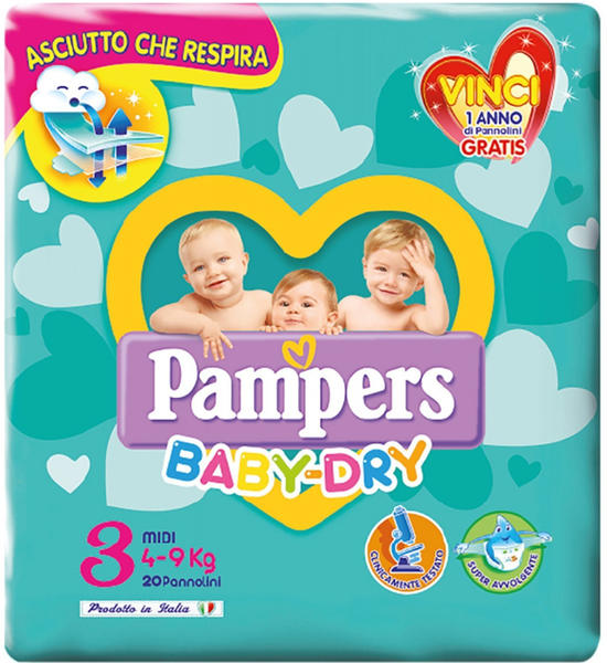 Pampers Baby Dry Gr. 3 (4-9 kg) 20 St.