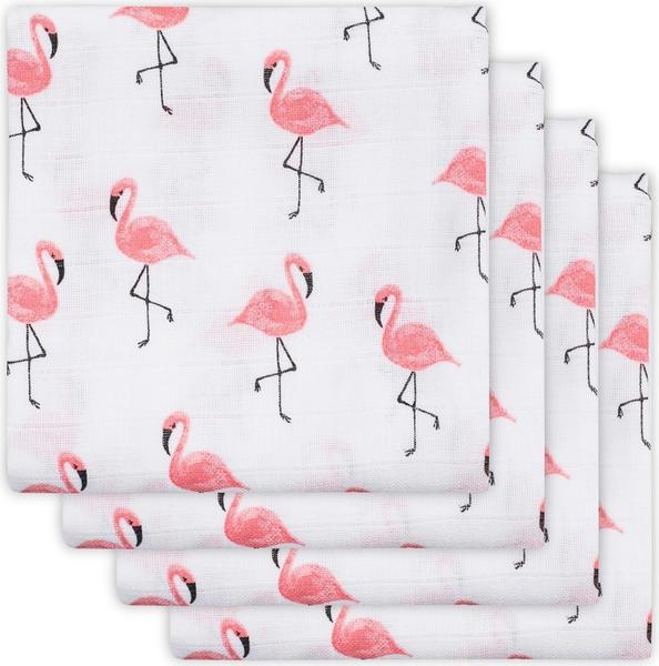 Jollein Mullwindeln (70 x 70 cm) 4er Pack flamingo pink