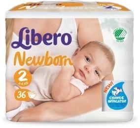 Libero Libero Newborn Size 2 (3-6kg) 36 pcs.