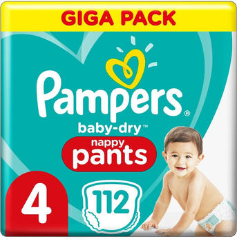 Pampers Baby Dry Pants Size 4 (9-15 kg) 112 St.