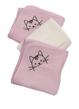 Be Be's Collection Mullwindel 3er Pack Katze rosa