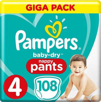 Pampers Baby Dry Pants Gr. 4 (9-15 kg) 108 Stück