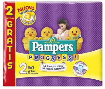 Pampers Progressi Mini S 2 3-6 Kg (28+2pcs)
