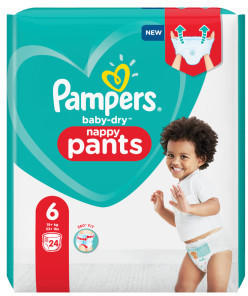 Pampers Baby Dry Pants Gr. 6 (15+ kg) 24 St.
