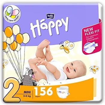 Bella Baby Happy Box Gr. 2 Mini (3-6kg) 156 Stück
