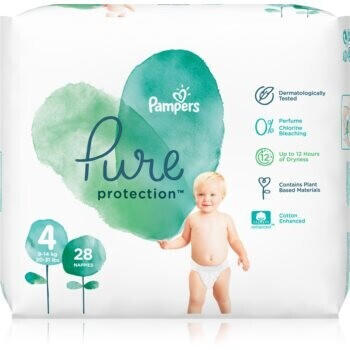 Pampers Pure Protection Gr. 4 (9-14 kg) 28 St.
