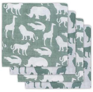 Jollein Mullwindeln (70 x 70 cm) 4er Pack safari forest green
