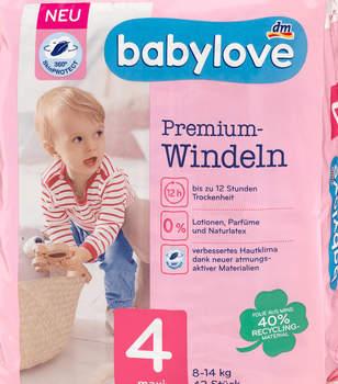 dm Babylove Premium-Windeln Größe 4 maxi 42 St.