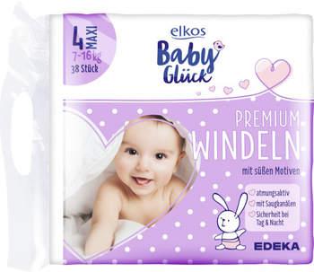 Elkos Baby Glück Premium Windeln Größe 4 maxi 38 St.