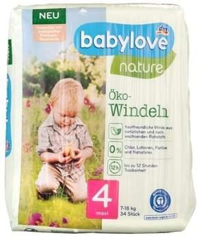 dm Babylove Nature Öko-Windeln Größe 4 maxi 34 St.