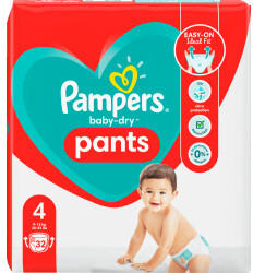 Pampers Baby Dry Pants Gr. 4 (9-15 kg) 32 St.