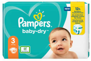 Pampers Baby Dry Gr. 3 (6-10 kg) 42 St.