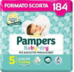 Pampers Baby Dry Gr. 5 (11-25 kg) 184 St.