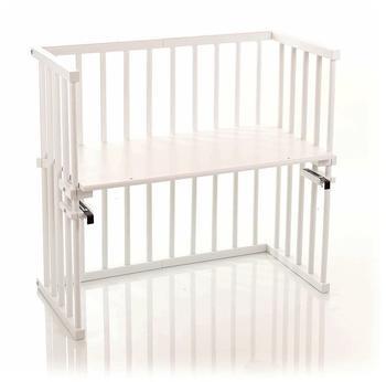 Babybay Beistellbett Midi seidenmatt weiß (120102)