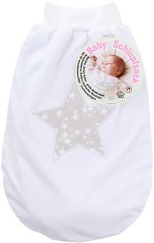 babybay Schlupfsack weiß mit großem Stern