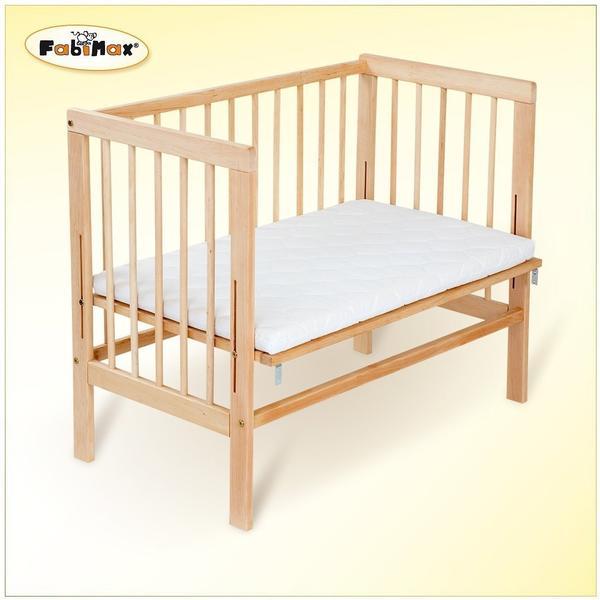 Fabimax Beistellbett Basic mit Matratze Comfort - natur