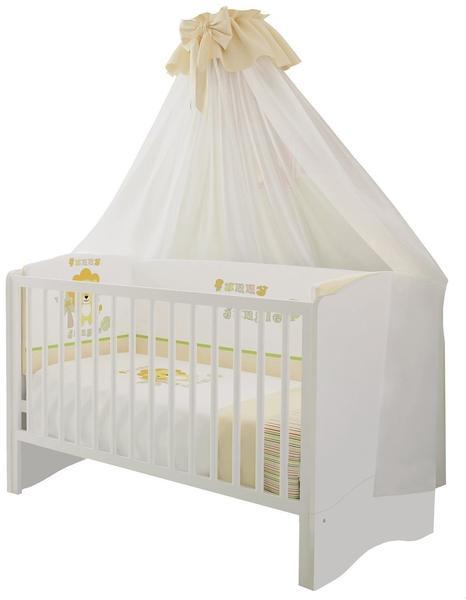 Polini Kids Simple Kombi-Kinderbett 140x70cm weiß (1176.9)