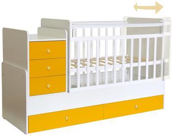 polini-kids-kombi-kinderbett-simple-1100-mit-kommode-gelb-122718