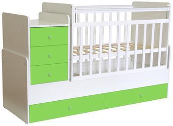 polini-kids-kombi-kinderbett-simple-1100-mit-kommode-gruen-12276