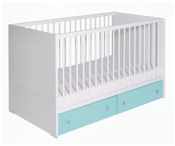 Schardt Kinderbett Clic weiß/türkis