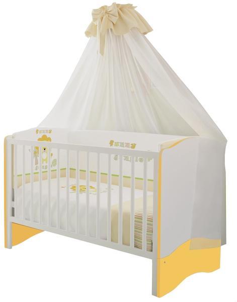 Polini Kids Simple Kombi-Kinderbett 140x70cm weiß/gelb (1176.18)