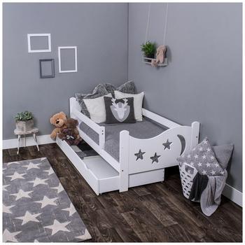 KAGU Kinderbett Chrisi inkl. Matratze und Schublade weiß