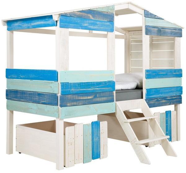 Massivum kinderbett safari ii 90x200 blau ab 549 90 for Kinderbett 90x200 gunstig