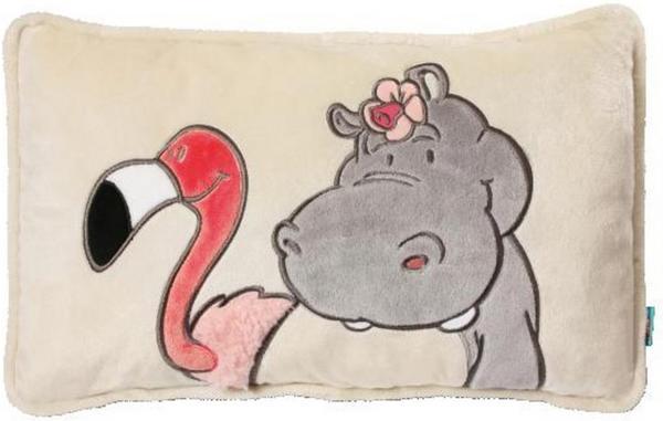 NICI Kissen Nilpferd und Flamingo rechteckig (43 x 25)