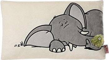 NICI Kissen Elefant mit 2D-Vogel